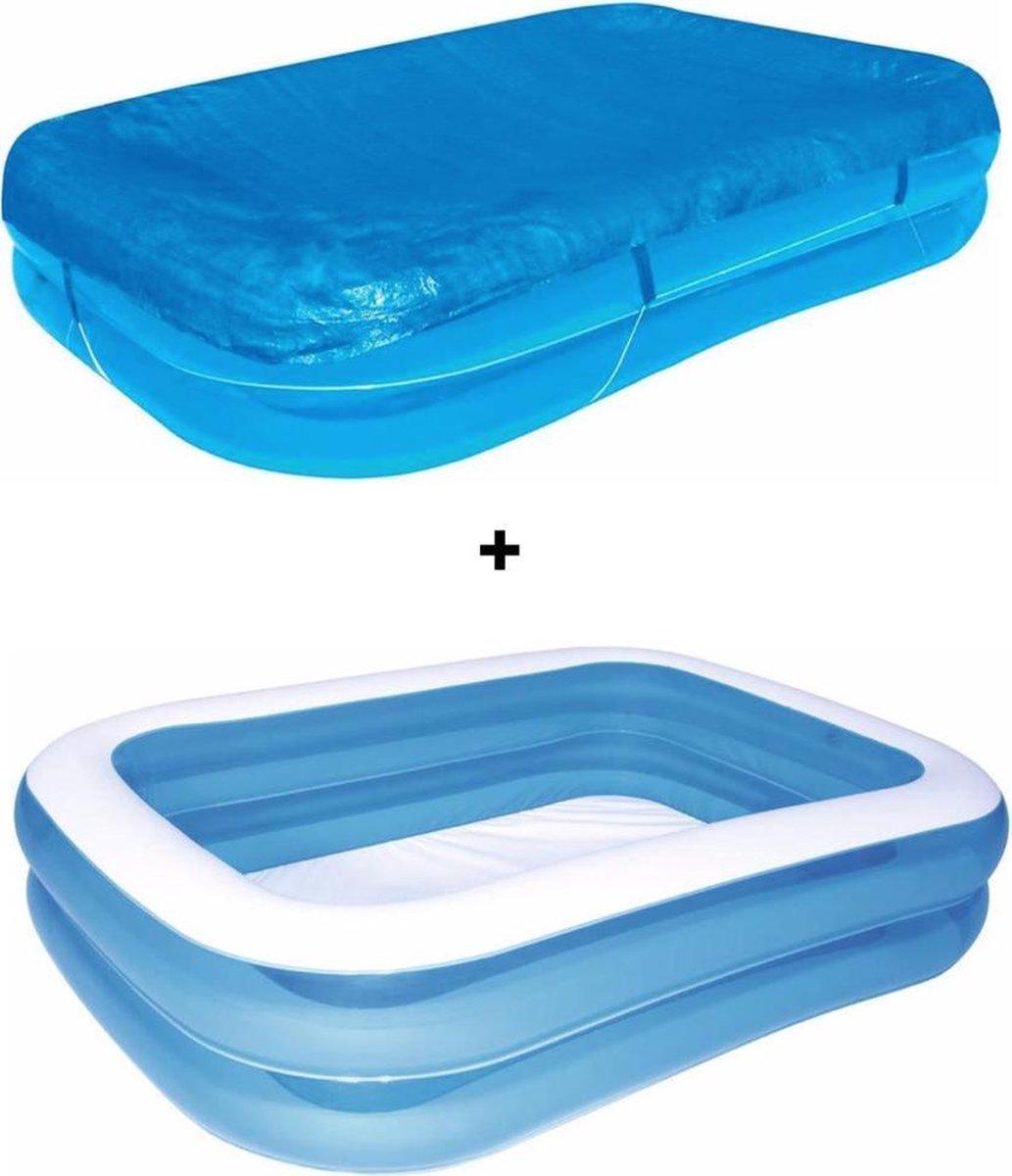 Zwembad - 262 x 175 x 51 cm - Opblaasbare zwembad - opzetzwembaden - opblaaszwembad - zwembad- zwembaden - Zwembadset + GRATIS AFDEKZEIL