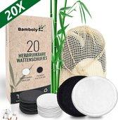 Herbruikbare Wasbare Wattenschijfjes - Make-Up Remover met Waszakje – 10x Dagelijks 10X Scrub