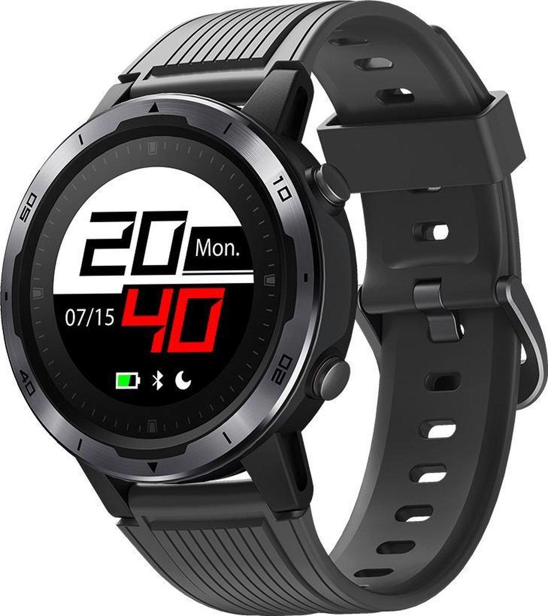 SmartWatch-Trends - Smartwatch - met ingebouwde GPS en Kompas - Zwart kopen