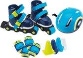 Rolschaatsen met Brede Wielen - Imaginarium  - Skates inclusief Helm, Beschermers en Pionnen - Blauw