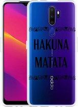 Oppo A9 2020 Hoesje Hakuna Matata black