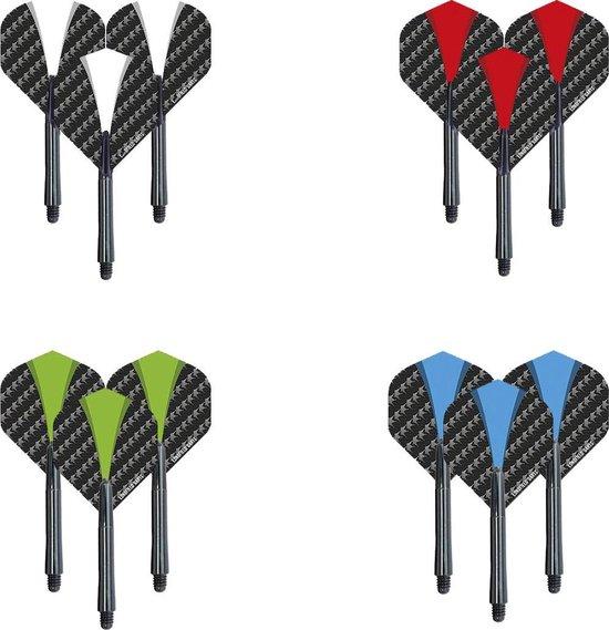 Dragon darts - 4 sets (12 stuks) Sterke - multicolour - flights - darts flights - incl. 4 sets - darts shafts