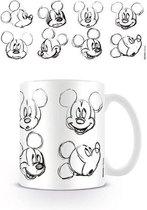 DISNEY - Mug - 300 ml - Mickey Mouse Sketch Faces