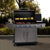 Barbecue / BBQ / Gasgrill - Alabama - 6 pits - Zilver