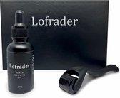 Lofrader Baardgroei Olie met DermaRoller - Baardolie - Derma Roller - Baard Groei Olie - Baardgroei - Beard oil - Baardroller