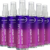 Andrélon Pink Collection Beachy Texture Sea Salt Haarspray - 6 x 150 ml - Voordeelverpakking