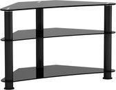 TV meubel kast hoekmodel - audio hifi dressoir kast voor in de hoek - zwart