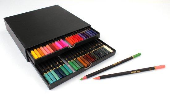 Afbeelding van 46 Professionele Kleurpotloden in luxe Opbergdoos  Coloured Pencils   Potlood Met Zachte Punt