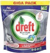 Dreft Platinum Regular - All in one - 90 Stuks - Vaatwastabletten