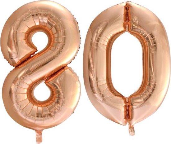 Folieballon nr. 80 Rosé Goud 86cm
