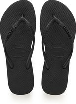 Havaianas Slim Glitter Dames Slippers - Black - Maat 39/40