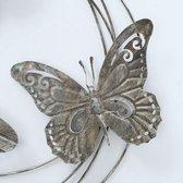 Tuindecoratie - Wanddecoratie - Muurdecoratie - Metaal - Vlinders - Donker bruin gemêleerd - 56 x 58 cm
