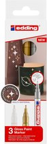 Viltstift edding 751 lakmarker metallic set à 3 stuks assorti - goud-zilver-wit