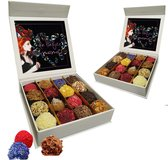 ChocolaDNA handgemaakte Chocolade bonbons truffels in luxe cadeauverpakking - 16 stuks