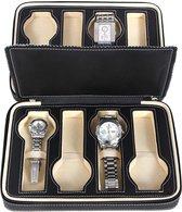 Horlogebox / Opberg Doos voor Uurwerken (8 horloges) - Zwart