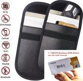 Duo-pack - RFID beschermhoes Autosleutel anti-diefstal beschermhoezen - Voor auto's met Keyless Go en Keyless Entry - Zwart - Draadloze autosleutels - Pasjes