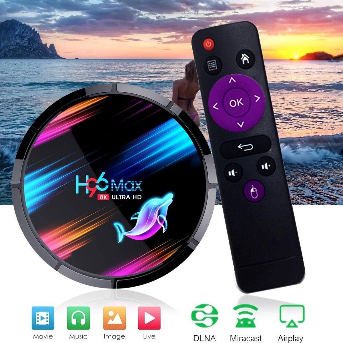 TV Box H96 Max Smart Android 9.0 TV Box Netflix Youtube Google Voice Assistant!