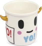 Thumbsup! Mini-bloempot Tokidoki Yo 8,5 Cm Keramiek Wit