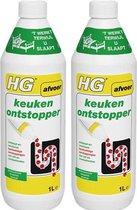 HG keukenontstopper - 1000ml - Effectieve en natuurlijke gootsteenontstopper | 2 Stuks
