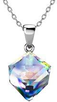 Yolora dames ketting met Kalpa Camaka kristal - 18K Witgoud vergulde ketting - YO-N083-WG-AB