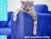 Katten Anti Krab Sheets (4 Stuks) - Meubelbescherming - Tegen Krabben - Trainingstape - Bank - Meubels - Bescherming - Krabschade - Kat - Diervriendelijk - Grote Vellen - Anti Scratch Sheets - Geen Punaises Nodig - 43.2 x 30.5 cm - Transparant - XL
