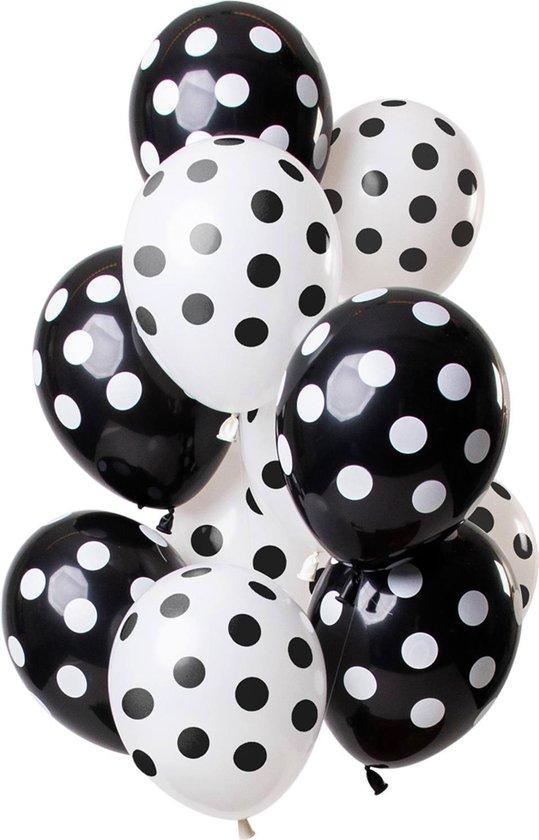 Ballonnen stippen zwart - wit