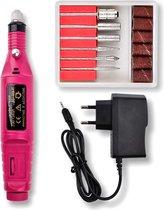 Handheld Nagelfrees Voor Manicure & Pedicure Motor - Nagel Frees Elektrische Vijl Set - Freesmachine Met Bitjes
