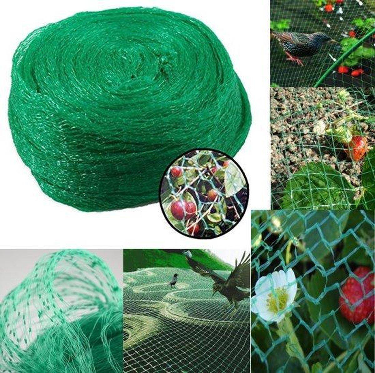 Vogelnet - Anti-vogel net - 400cm x 500cm - Vogelgaas - Bird net - Tuinnet - Vijvernet - Fruitnet -