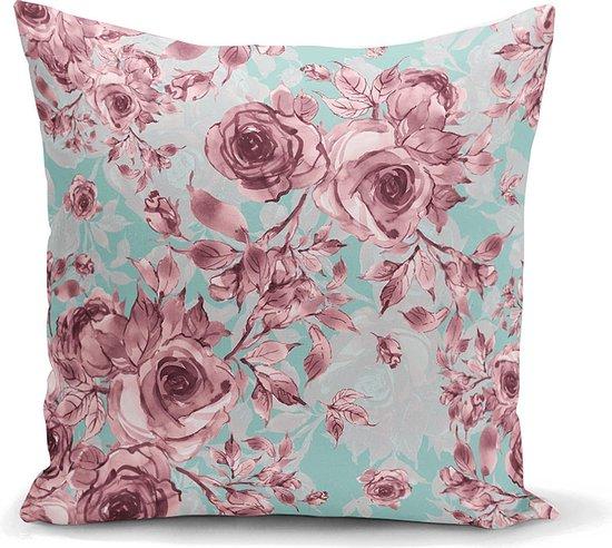 Decoratieve sierkussen roos bloemen ontwerp- Harmonie van geweldige kleuren -...