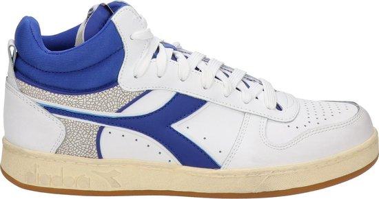 Diadora Magic Basket demi cu heren sneaker - Wit blauw - Maat 46