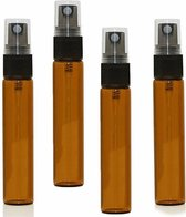 Sprayflesjes 10ml Bruin 10st - Glas - Navulbaar - Amber Spray Flesjes Leeg
