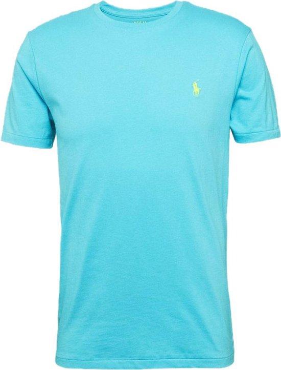 Polo Ralph Lauren T-shirt - Heren t-shirt korte mouw - Custom Fit - Crew hals - 100% katoen - Turquoise - M