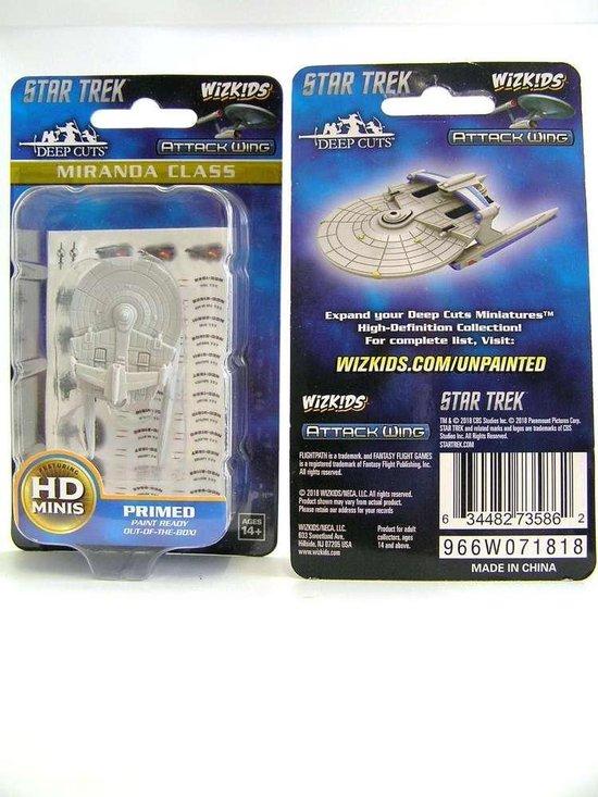 Thumbnail van een extra afbeelding van het spel Star Trek: Attack Wing Deep Cuts Unpainted Miniatures - Miranda Class