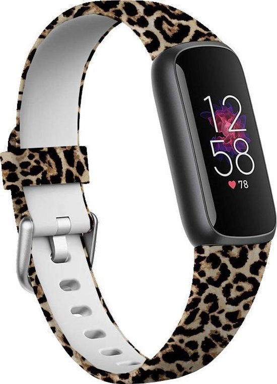 YONO Fitbit Luxe Bandje - Siliconen – Leopard