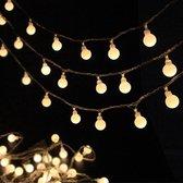 LED Feestverlichting - Waterdicht - lichtsnoer - 10meter - Warm Wit - incl 100 lampen - Voor Binnen en Buiten