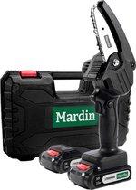 Mardin - Mini kettingzaag - Snoeizaag - Kettingzaag - Kettingzaag Electrisch met 2 Accu - Inclusief Koffer -  1 Extra Accu - Zwart