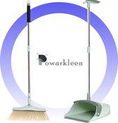Powarkleen - Stoffer & Blik met lange steel - 90 CM hoog