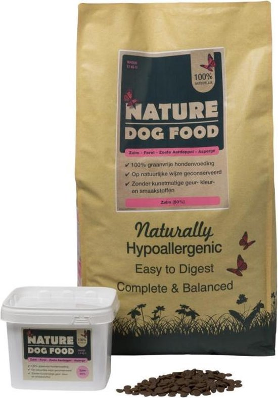 Nature Dog Food - Hypoallergeen hondenvoer Adult Graanvrij Zalm & Forel - 12 kg