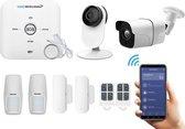 Smartbeveiliging Alarmsystemen - Draadloos - WiFi - Binnen- en buiten camera - Zonder abonnement