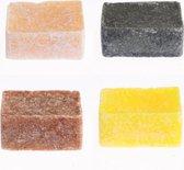 4 Amberblokjes - geuren: Amber-Roos-Vanille-black musk (originele Marokkaanse geurblokjes)