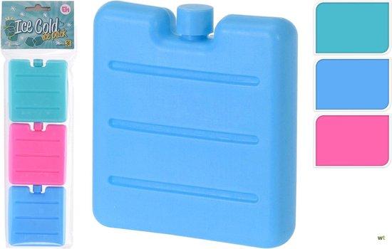 3-Pack kleine koelelementen | Groen, Roze en Blauw