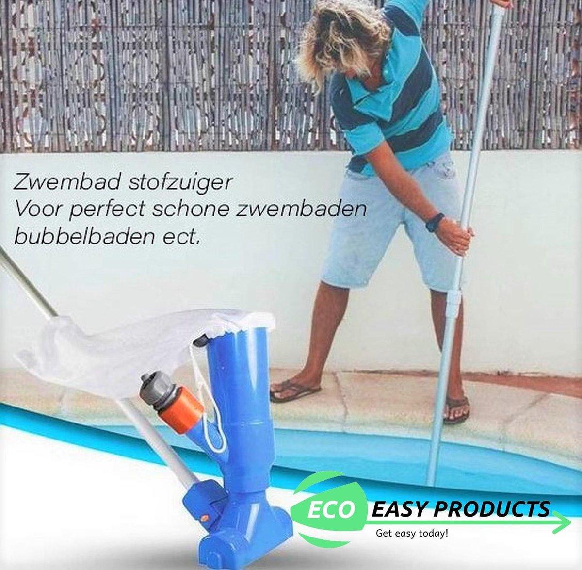 Zwembad Stofzuiger Inclusief telescoopstang - Zwembadreiniging - Reinigingset - Zwembadstofzuiger - Schoonmaakset zwembad - B...