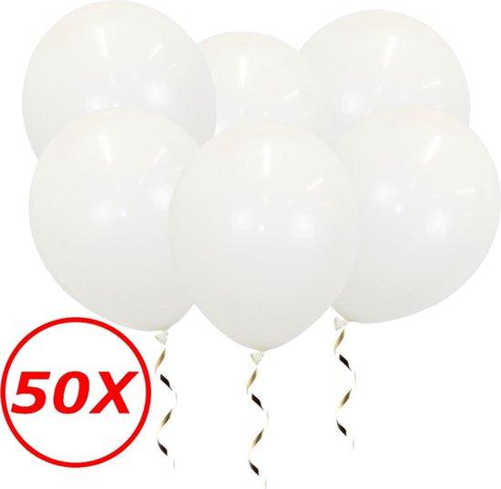 Witte Ballonnen Verjaardag Versiering Witte Helium Ballonnen Bruiloft Feest Versiering EK WK Koningsdag Wit 50 Stuks