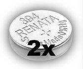 Renata 394 / SR936SW zilveroxide knoopcel horlogebatterij 2 (twee) stuks
