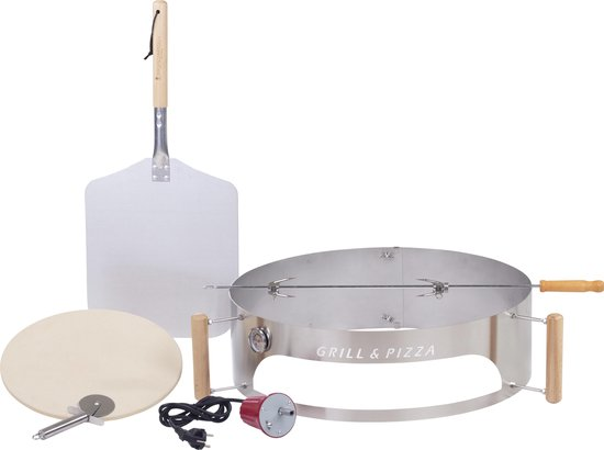 BBQPIZZA4YOU™ Grill- & Pizzaring Deluxe Set Compleet