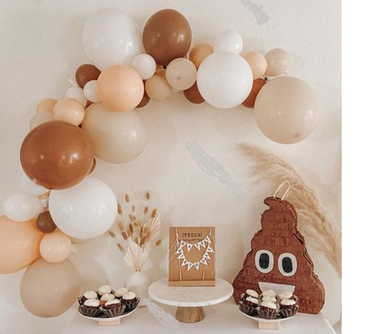 Retro - Vintage - Geboorte - Verjaardag Ballonnen | Cacao - Mat Wit - Zand Naturel - Perzik | Ballon | Baby Shower - Kraamfeest - Verjaardag - Geboorte - Fotoshoot - Wedding - Marriage - Birthday - Party - Feest - Huwelijk - Jubileum | DH collection