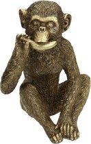 Etende aap   goud   16x16x23CM