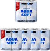 Thetford - 4 X Aqua Soft 2 Laags Toiletpapier - 16 Rollen - Superzacht - Chemisch Toilet - Camping Wc-Papier - Snel Oplosbaar -