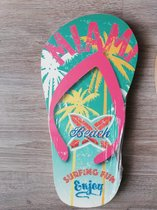 Muurdecoratie - Slipper beach - Roze
