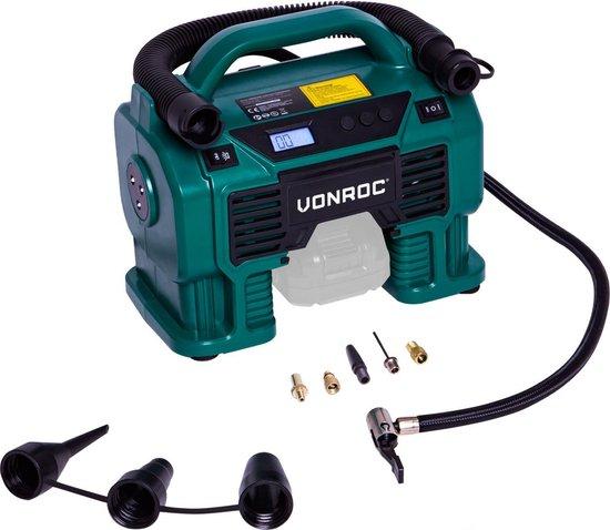 VONROC Accu compressor – VPower 20V (losse body) – 20V accu & 12V aansluiting...